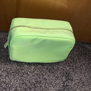 Neon lime large cosmetic bag forever 21
